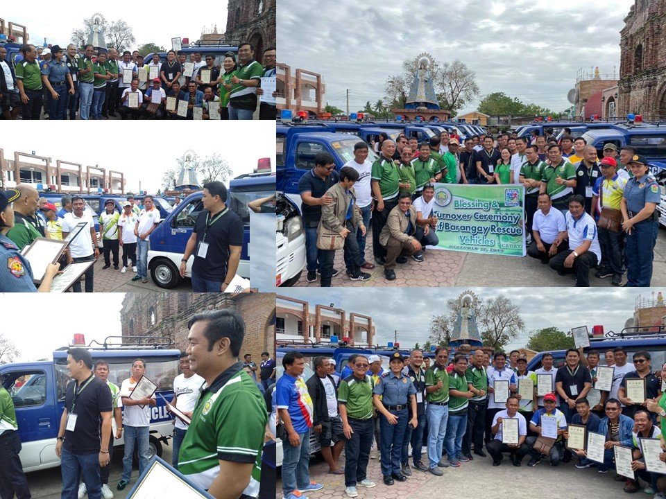 Turnover Ceremony of Barangay Rescue Vehicles